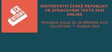 Mistrovství České republiky ve zpracování textů 2021 online